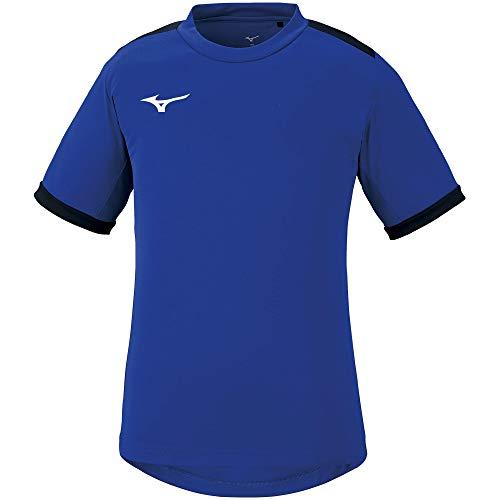 [ミズノ] サッカーウェア フィールドシャツ 半袖 吸汗速乾 スリム ジュニア キッズ P2MA1120 サーフブルー/ブラック 160