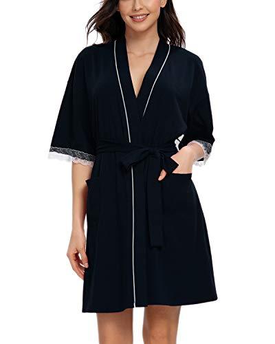 MINTLIMIT - Albornoz de algodón para mujer, diseño de