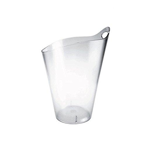 Weinkühler Sektkühler DoimoFlair Salsa Bucket aus Kunststoff / Sektkühler / Weinkühler / Champagnerschale / Punschschale / Transparent / für 1 Flaschen