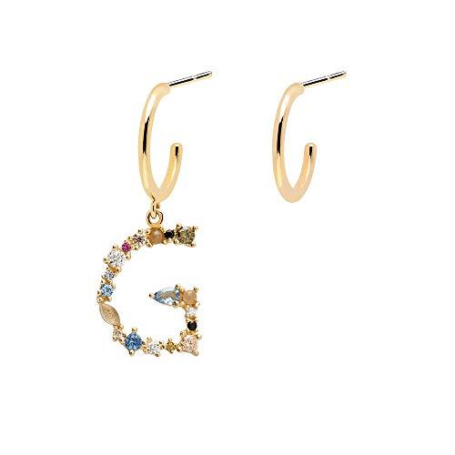 PDPAOLA - Orecchini Lettera G - Argento Sterling 925 Placcato in Oro 18 carati - Gioielli per Donna