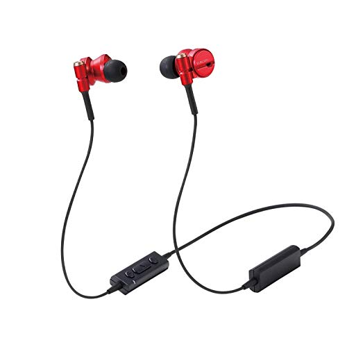 "ELECOM Bluetooth Wireless Earphone ""Grand Bass"" (RED)..."
