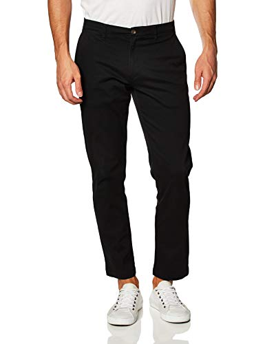 Amazon Essentials Men's Slim-Fit Casual Stretch Khaki, Black, 30W x 34L