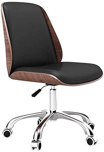 GSN Silla giratoria de ordenador silla de la PU acolchado de cuero silla de escritorio Ultimate Comfort Computer Design marco de madera maciza turística tamaño de la silla que compite con soporte de p