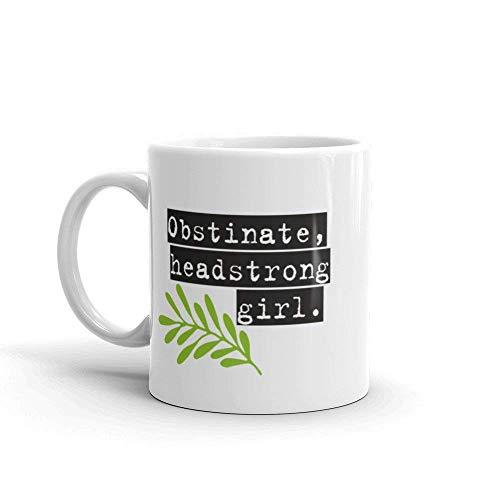 N\A Obstinada Chica testaruda Taza Taza de café Jane Austen Elizabeth Bennet Feminista Feminismo Regalo Hermana Madre Esposa Hija Orgullo y prejuicio