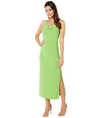 bebe Cowl Neck Maxi Lime MD