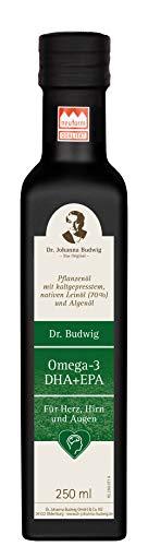 Dr. Budwig Omega-3 DHA + EPA - Das Original - Mit verbesserter Rezeptur versorgt Sie Dr. Budwig Omega-3 DHA+EPA gleich mit drei wichtigen Omega-3-Fettsäuren: DHA, EPA und ALA, 250 ml