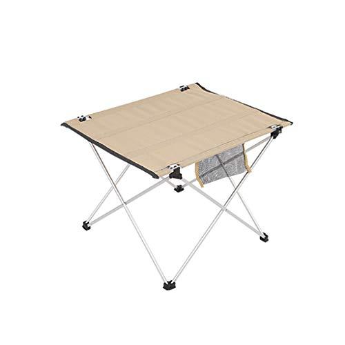 Mesa De Camping, Mesa Plegable Ligera con Bolsillo, Mesa De Picnic Portátil Impermeable Y Resistente A Las Manchas, 1,43 Libras