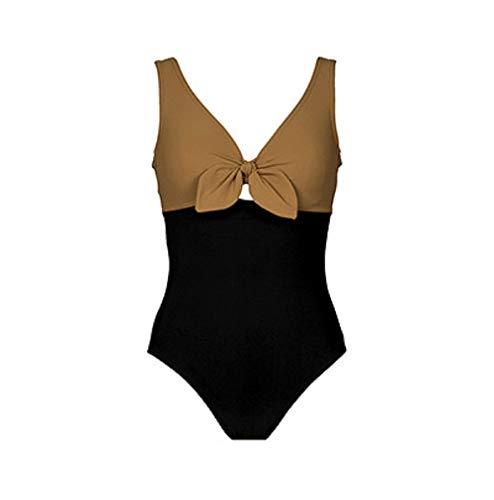 Karla Colletto Grace Bandeau Swimdress (364-008) (Black/Toffee, 6)