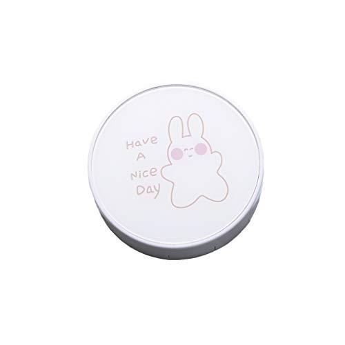 GLLP Lentes de Contacto Caja Ins Belleza Contacto Chica Caja portátil de Almacenamiento de la Personalidad Creativa Pequeño Lindo Simple de Gama Alta (Color : White 1)