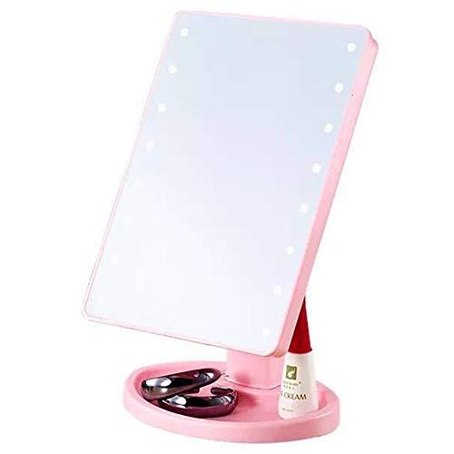 16L-EDS Make-up Spiegel 1x 10-facher Vergrößerung Bildschirm wechseln Helligkeit einstellbar Schminkspiegel