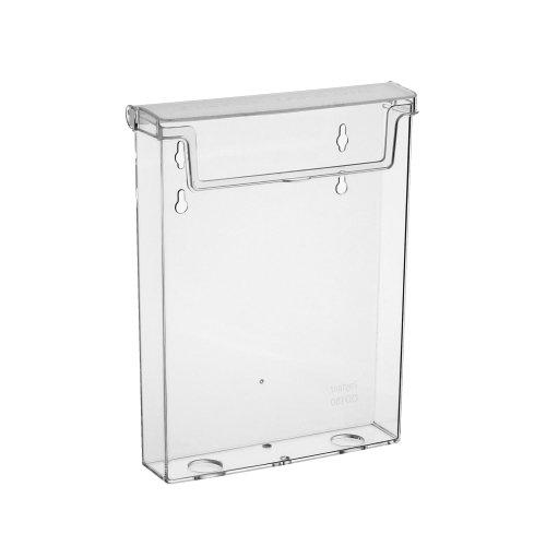 DIN A5 Prospektbox / Prospekthalter / Flyerhalter im Hochformat, wetterfest, für Außen, mit Deckel