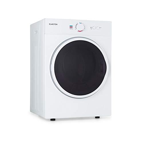 Klarstein Jet Set - Secadora de ropa por salida de aire, Potencia 1020 W, 2 niveles, Temporizador 20-200 min, Tambor de acero inoxidable, Capacidad 3 kg, 60 dB, Extractor, 49 x 69 x 47,5 cm, Blanco