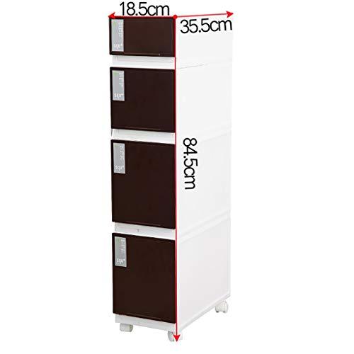 Sleufkast riemschijf – verticale opslag voor slaapkamer, badkamer, blanco, closets en meer. 18.5 * 35.5 * 84.5cm