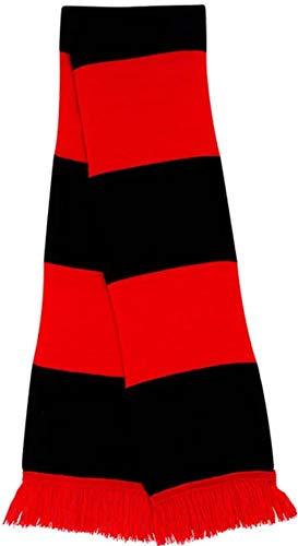 Manchester City Away Style rétro-Couleur: Noir/Écharpe de Football Rouge