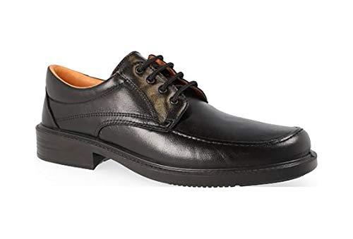 Zapatos Hombre en Piel de Cordero de la Marca LUISETTI - Color Negro con Cordones, Forro y Plantilla Piel, Piso Poliuretano Antideslizante - 0107-25 (40 EU, Negro)