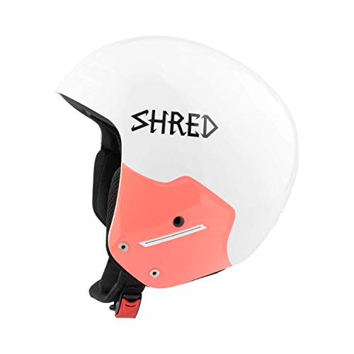 Shred Herren Helm Basher Noshock Wipeout, White, L