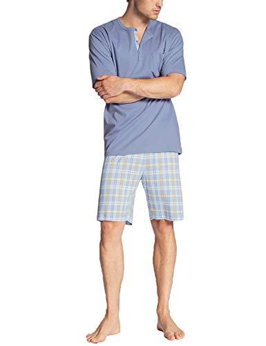 CALIDA Herren Relax Gentle Zweiteiliger Schlafanzug, Gelb (misted Yellow 064), XX-Large (Herstellergröße:XXL)