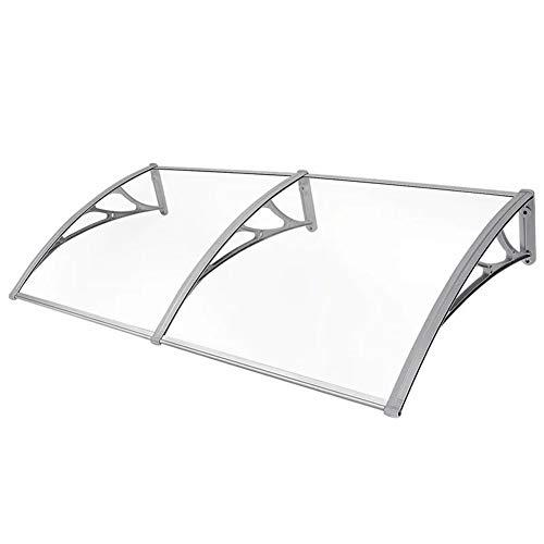 LRZLZY Refugio Transparente de policarbonato techos Lluvia Fuera de protección Solar UV fácil de Instalar (Size : 120CM X 60CM)