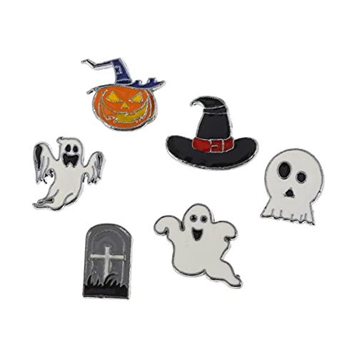 EXCEART Colgante de Halloween 24 Piezas de Joyería Temática de Halloween Encantos DIY Colgantes Colgantes Pendientes Collar Suministros para Hacer Joyas