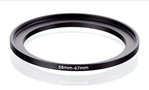 Step Up 58-67 mm Anillo adaptador 58-67 mm adaptador anillo 58-67 mm lente 58-67 58 67 mm objetivo compatible con Nikon Canon Fujifilm Leica Sony Olympus Panasonic Sigma TAMRON TOKINA