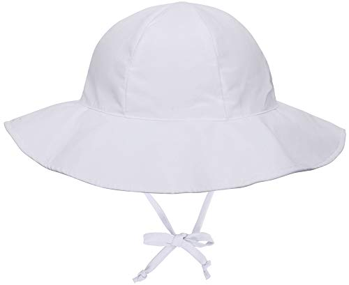 SimpliKids UPF 50+ UV Ray Sun Protection Wide Brim Baby Sun Hat,White,0-12 Months