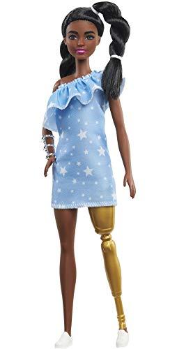 Barbie Fashionista Muñeca afroamericana con Pierna ortopédica (Mattel GYG09)