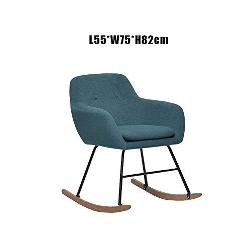 WANXJM Schaukel-Entspannungsstuhl, Last 100 kg, Lounge-Liege mit bequemem gepolstertem Sitz, Freizeit-Schaukelstuhl,Blau