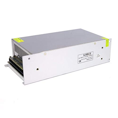 Fuente de alimentación conmutada 12V 10A 15A 20A 30A 40A 50A 60A 100W 120W 150W 200W 240W 350W 500W 600W 720W 800W 1000W para luces LED (color: blanco) (tamaño: 12v (1000w))