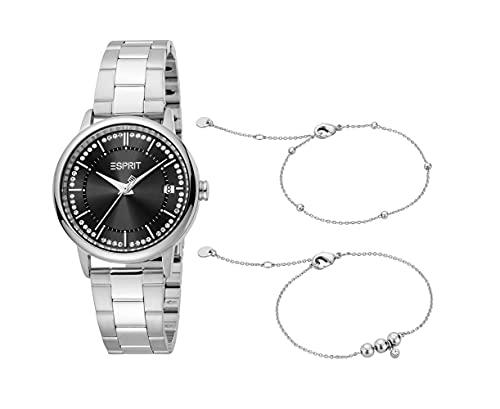 Esprit Damen Armbanduhr Harper Set 33 mm Inklusive Armband Armband Stainless Steel ES1L181M2055