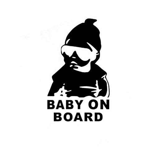 Car Sticker 149Cm Baby On Board Cool Rear Reflective Sunglasses Child Car Stickers Warning Decals