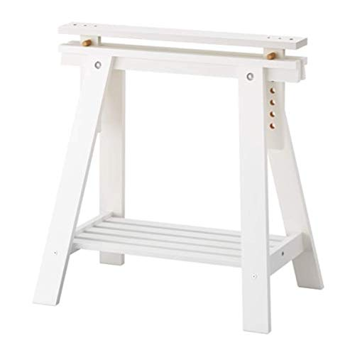 IKEA Finnvard Trestle with Shelf White 801.500.95 Size 27 1/2x28/36 5/8""