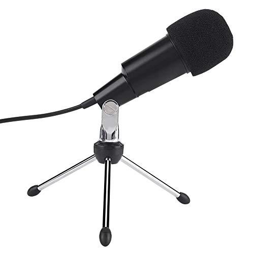 VBestlife computermicrofoon, externe condensatormicrofoon voor geluidsstudio's, radio's, podiumoptredens, film- en televisiepostproductie, 3,5 mm