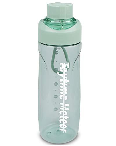 Botella de Agua Deportiva Sin BPA 680ml Reutilizables Ecológica Tritan Botellas con Cierre a Prueba Fugas para Senderismo al Aire Libre Gimnasio, Bicicleta, Verde