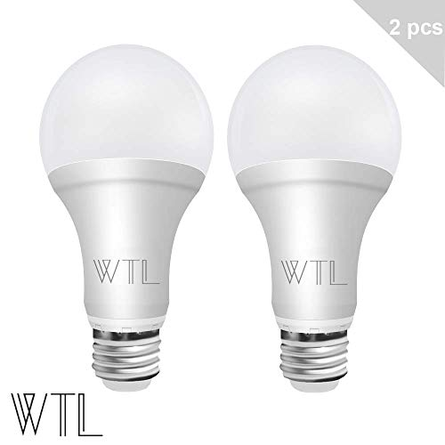 WTL 3-Way Led Light Bulb 50-100-150W 2 Packs 500-1600-2100LM High Lumens and 4000K Natural White A21 E26 Medium Base Bulb for Table Lamp