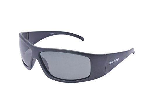OCEAN SUNGLASSES - California - lunettes de soleil polarisÃBlackrolles  - Monture : Noir Mat - Verres : FumÃBlackrolle (11200.0)
