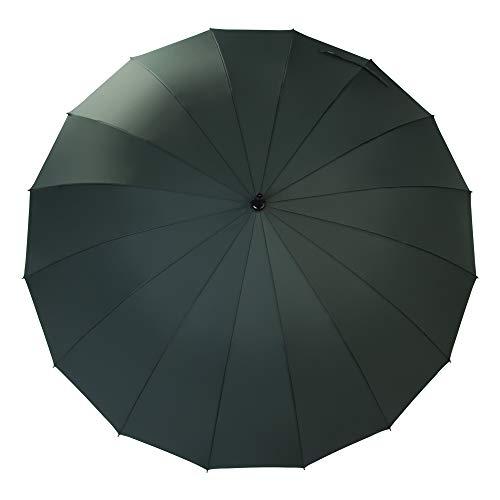 Saiveina 120 cm Regenschirm, automatisch, gerade, stark, langlebig, 190T Faser, wasserdicht, Winddicht, Sportschirm, 16 Rippen, Herren, Army Grün