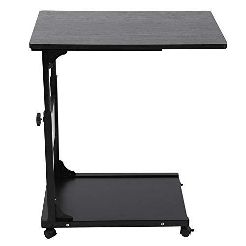 clauking mesa auxiliar sofá cama, mesa de ordenador cama sofá con ruedas altura ajustable de 55a 80cm mesa con ruedas (para ordenador portátil escritorio cámara salón