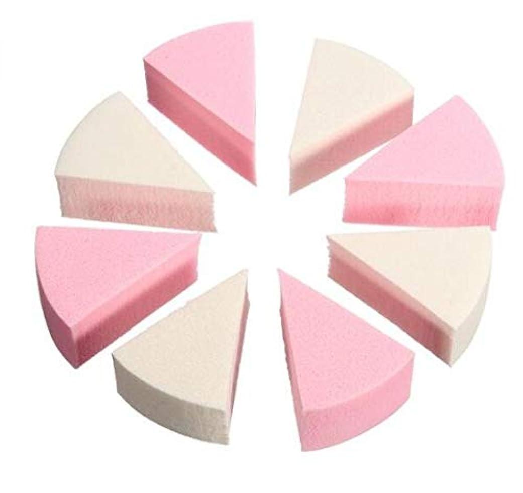 神秘残酷な自発的Chaopeng 美容スポンジ、柔らかい8部分の三角形の構造のスポンジのパフの構造のミキサー (Color : ピンク)