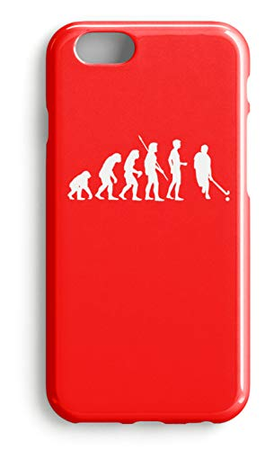 shirt-o-magic Handyhülle Hockey: Evolution Hockeyspieler - Case -iPhone 6s-Rubinrot