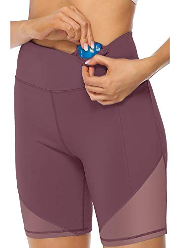 JOYSPELS Kurze Sporthose Damen, Radlerhose Damen Kurz Laufhose Leggings Sport Biker Running Yoga Fitness Shorts Rot M