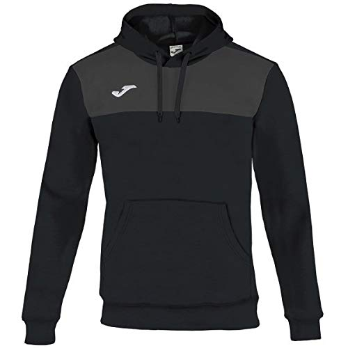 Joma Winner Cotton Sweatshirt à Capuche Homme, Noir/Anthracite, L