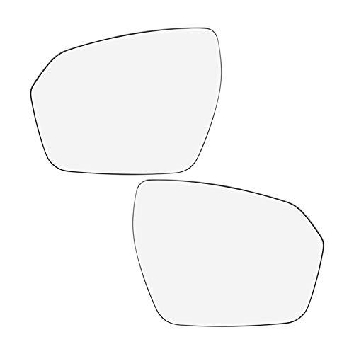 KCSAC Ajuste for Land Rover Range Rover Evoque Izquierda Derecha Par espejo de cristal climatizada con cubierta de placa lateral del espejo retrovisor de cristal 2012 2013 2014 2015 2016 2017
