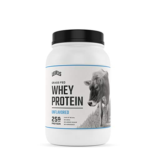 Levels Grass Fed 100% Whey Protein, No GMOs, Unflavored, 2LB