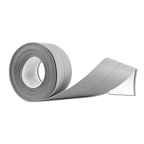 Selbstklebende Dichtband 3.2m x 3.8cm, Waterdichte en Schimmelbestendige Flexibles Dichtungsband, Perfekt für Küche, Bad, Badewanne, Toilette, Wandboden(grau)