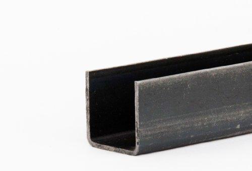 U-Profil Stahl schwarz Länge 750mm 50x50x4mm rundkantig