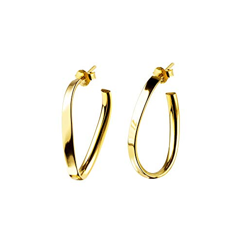 SINGULARU ® - Pendientes Obbo Oro para Mujer Plata de Ley 925 con baño de Oro de 18k - Joyas mujer