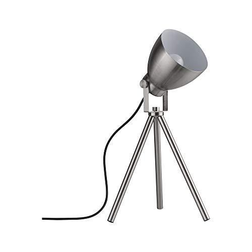 Paulmann 79732 Tischleuchte Seja max. 20 Watt Nachttischlampe Eisen gebürstet Tischlampe Metall E27