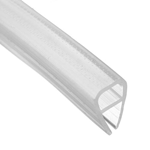 dDanke Tira de sellado inferior para puerta de ducha de 2 m de longitud, en forma de U, transparente, para mampara de ducha de 6 mm a 12 mm de grosor de vidrio (10 mm)