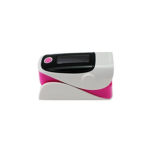 Denshine Color OLED pulsioximetro pediatrico Oximetro de dedo Con Alarma Audio y Sonido Pulso- Spo2 Monitor De Oximetro De Pulso De Dedo (rosa)