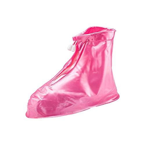 QHYY Silica Gel Schuhüberzug rutschfeste, verschleißfeste Regenstiefel Waschbar Verdickung Mittelschlauch Schuhscheide